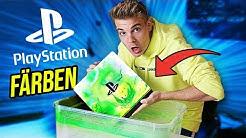 ich mache eine NEONFARBIGE PlayStation 4! (Hydro Dipping)