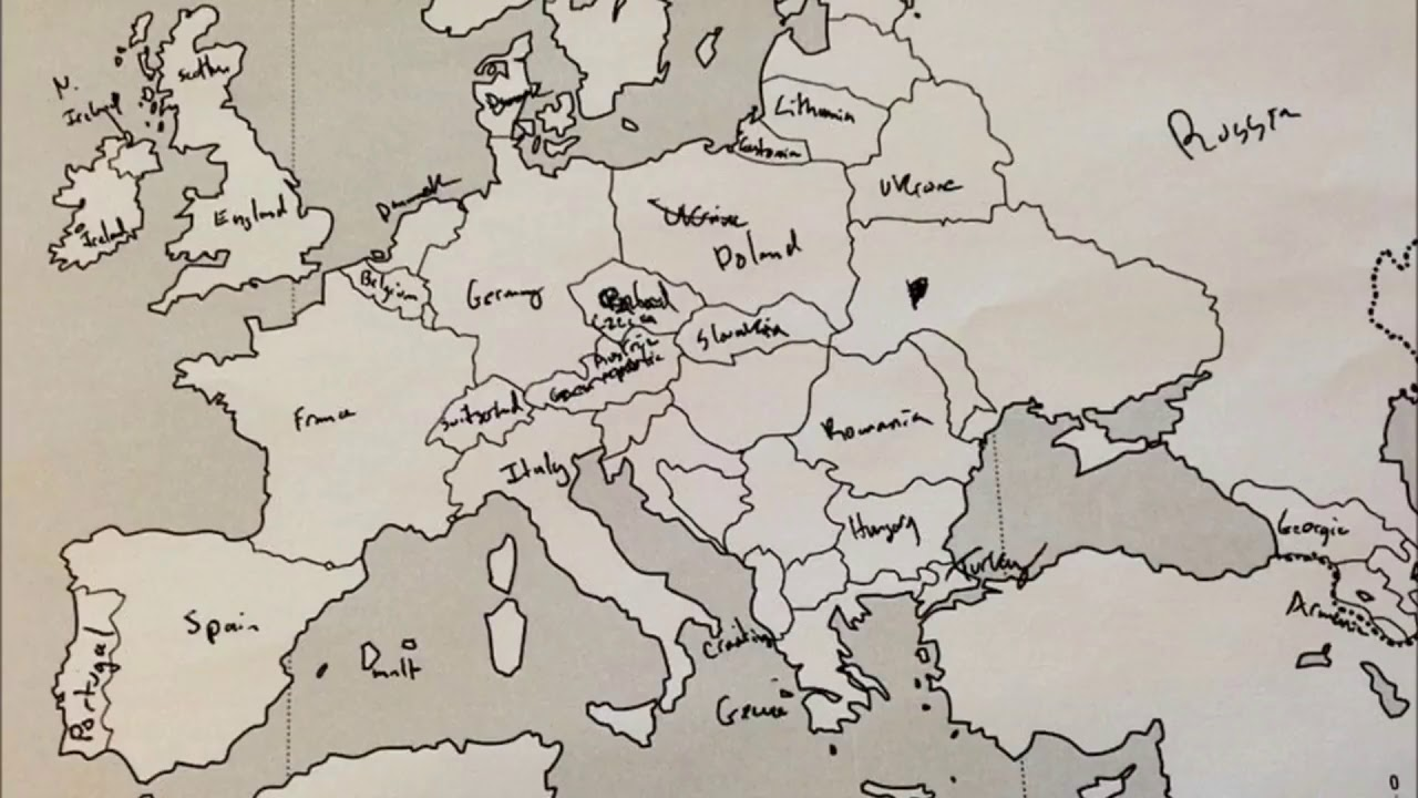 Label A Map Of Europe.Americans Were Asked To Label A Map Of Europe And Then The Opposite