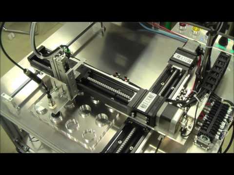 ステッピングモータを用いた2軸補間制御装置のデモ動画1