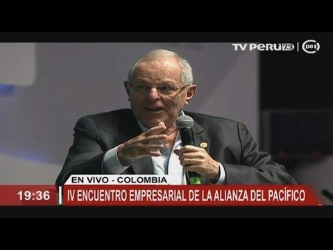 Presidente Kuczynski participó en el IV encuentro empresarial de la Alianza del Pacífico