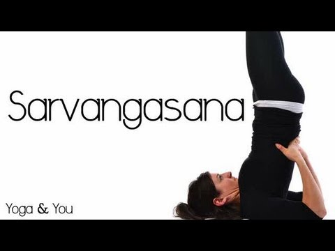 how to do sarvangasana shoulder stand pose  youtube