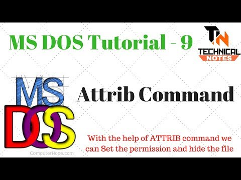 Download Dos Commands With Examples Attrib Command MP3, MKV
