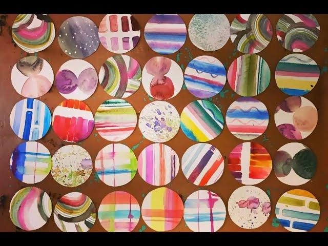 Collage van geometrische figuren
