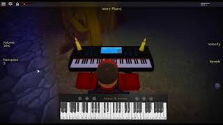 L.A. Devotee By: Panic! at the Disco on a ROBLOX piano.