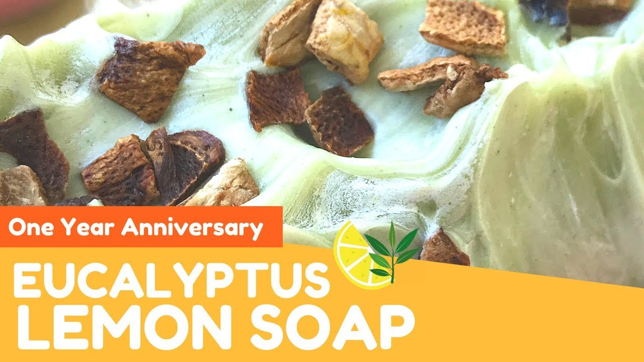 Making Natural Eucalyptus and Lemon Soap | One Year Anniversary Giveaway 🍋  | Gypsyfae Creations