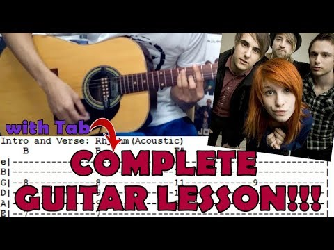 The Only Exception Paramorecomplete Guitar Lessoncoverwith