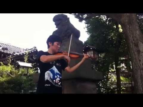 """Sakura variation for violin solo"" by Chiaki Yamazaki"