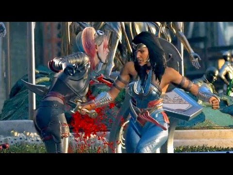 Wonder Woman Attempts to Kill Harley Quinn | INJUSTICE 2