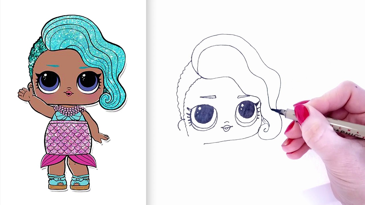 How to Draw Merbaby LOL Doll | LOL Surprise Doll Drawing ...