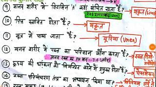 KVS,RPF मानव शरीर(Human Body) one liner facts, general science biology in hindi, railway,hssc,ssc