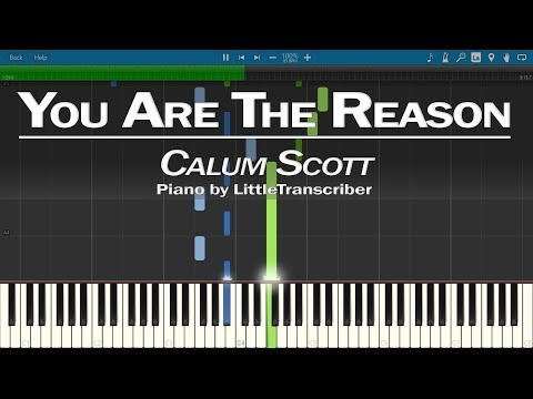 Calum Scott - You Are The Reason (Piano Cover) Synthesia Tutorial By LittleTranscriber