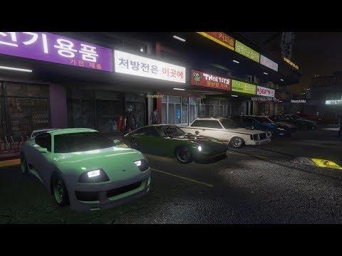 Livestream - GTA 5 - JDM & TUNER CAR MEET And Racing Playlist PS4