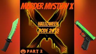 Mord Geheimnis X (MMX) Halloween 2018 Code! | Roblox