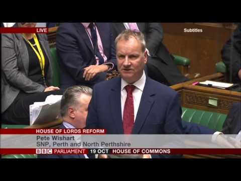 Pete Wishart MP on the House of Lords Wednesday 19th October 2016