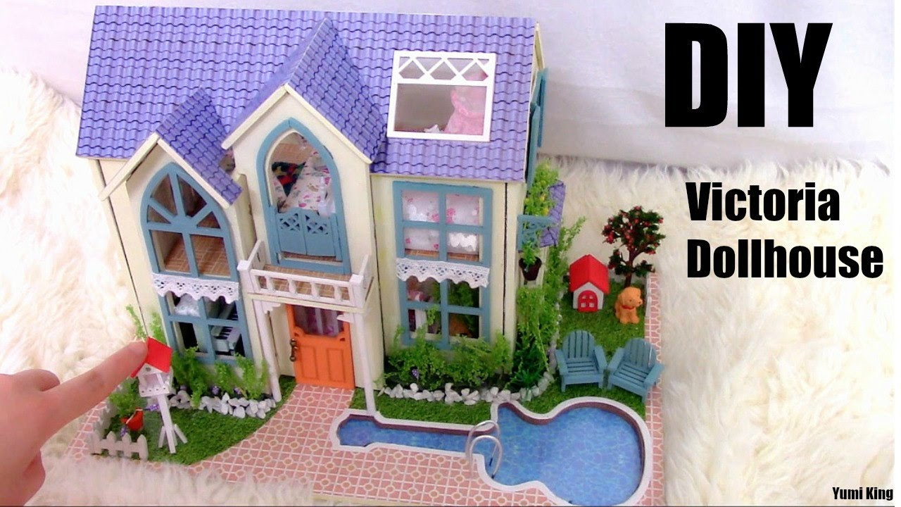 Victorian miniature houses - Diy Miniature Victoria Dollhouse Two Floor With Full Furniture Youtube