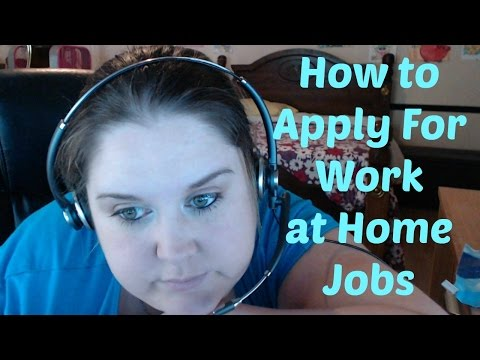 How to Apply to Work from Home Jobs