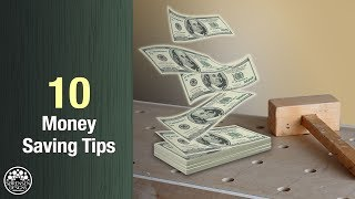 10 Money Saving Tips for Woodworkers // Easy Hacks ⚒