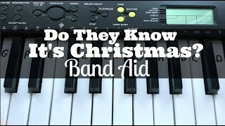 Do They Know It's Christmas? - Band Aid | Easy Keyboard Tutorial With Notes