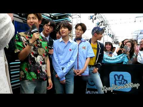 BTS (방탄소년단) at the BBMAs Red Carpet (Behind the Scenes of Vlive Interview)