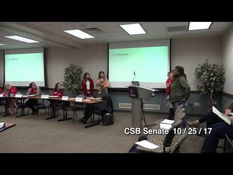 CSB Senate Meeting on 10/25/2017