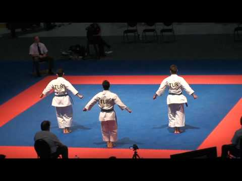 Croatia vs Turkey Unsu Kata+Bunkai match for 3rd place Zurich 2011