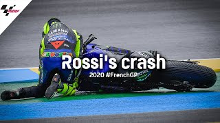 Rossi's crash on Lap 1 | 2020 #FrenchGP