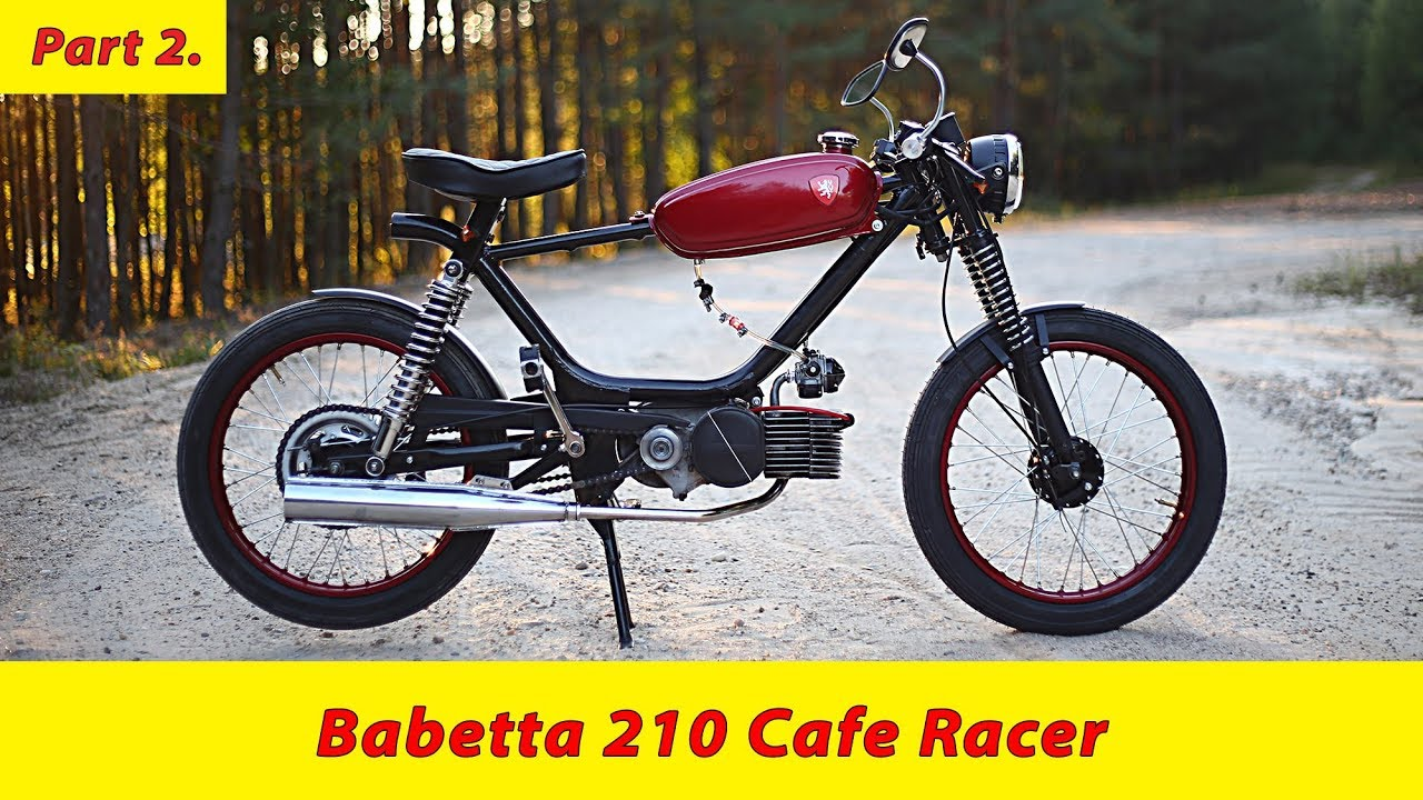 Moped Babetta 210 cafe racer build story (part 2 ) DIY custombike