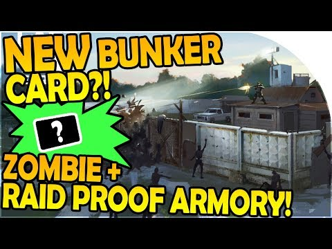 NEW BUNKER CARD?! - THE ZOMBIE + RAID PROOF ARMORY! - Last Day On Earth Survival 1.5.7 Update