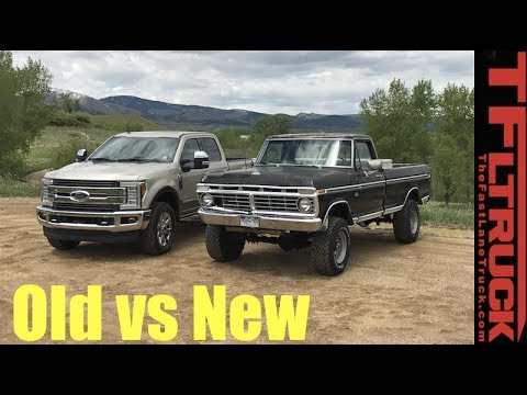 Old Vs New 1974 Vs 2017 Ford F 250 How Much Has The Super Duty Changed In 43 Years