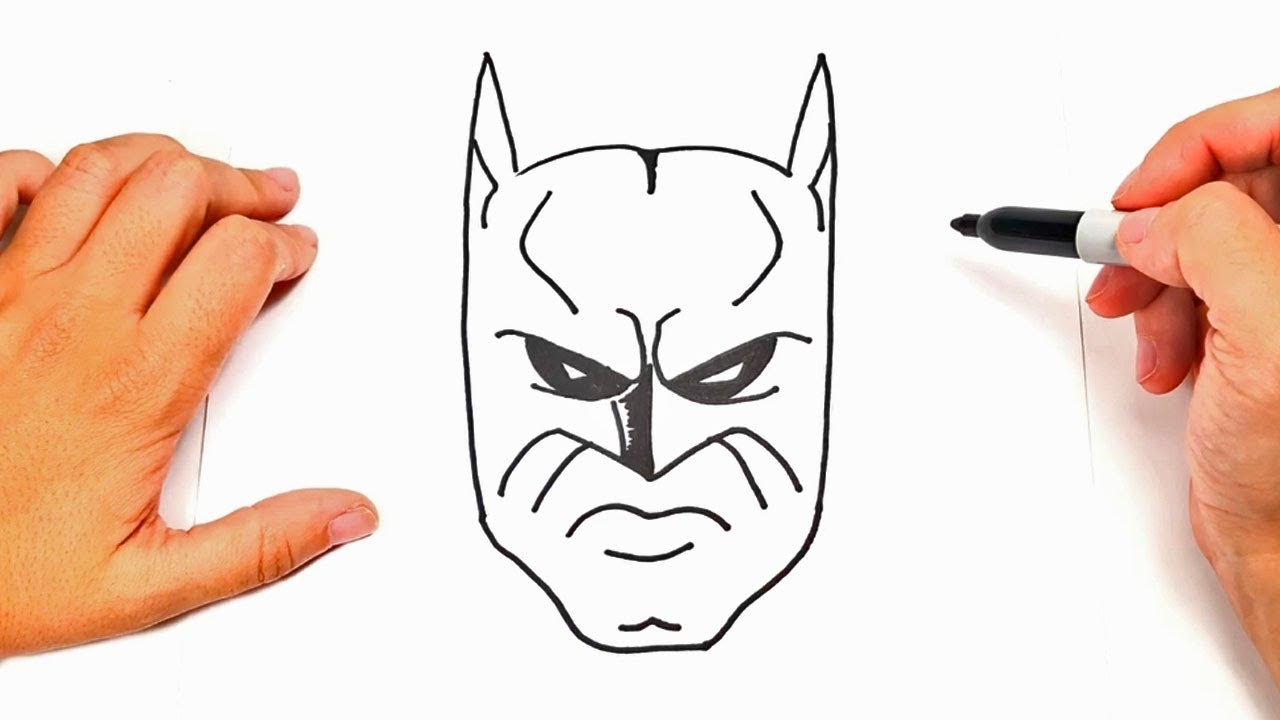 How To Draw Batman Face Batman Face Easy Draw Tutorial Youtube