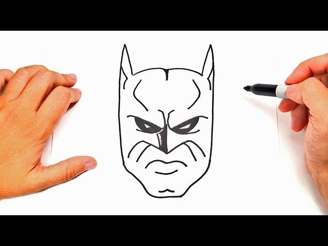 How To Draw Batman Face Batman Face Easy Draw Tutorial