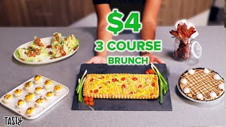 A Private Chef Tries To Make a 3-Course Brunch For 6 for $25 • Tasty