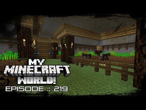 MY MINECRAFT WORLD! | CAVE ANIMAL FARMS! | Episode 219 (Let's Play MINECRAFT GAMEPLAY)