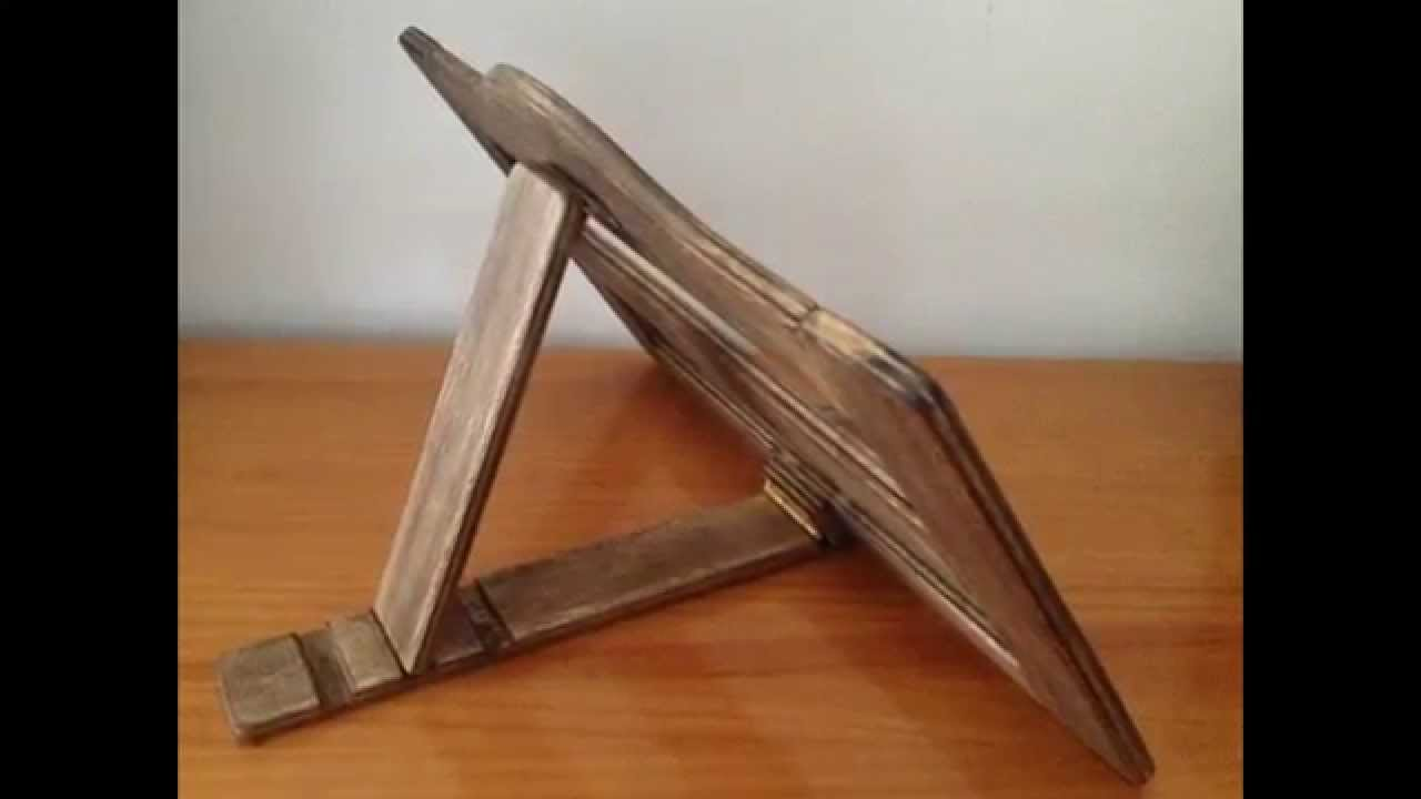 Atril y muestrario con tapas de madera youtube - Como cerrar un terreno con madera ...