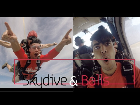 Skydiving hurts balls - Bangkok travel