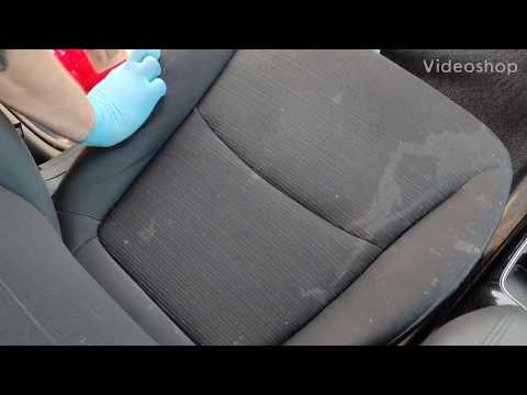 Detailing Filthy Car Seats! Removing stains from cloth seats.