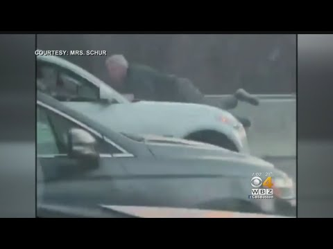 Crystal - WATCH:  Man On Hood Holds On For 3 Miles In Road Rage Fiasco