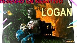 DESENHANDO LOGAN E A X23 | WOLVERINE | FILME 2017 | EFEIRO NEGATIVO COMO DESENHAR - DRAWING