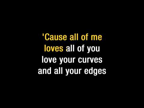 John Legend   All Of Me Karaoke