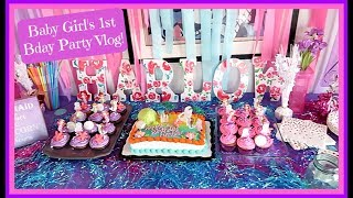 Baby Girl's 1st Birthday Party VLOG! Mermaid theme! 1st Birthday Party Ideas! Chanelle & Harlow