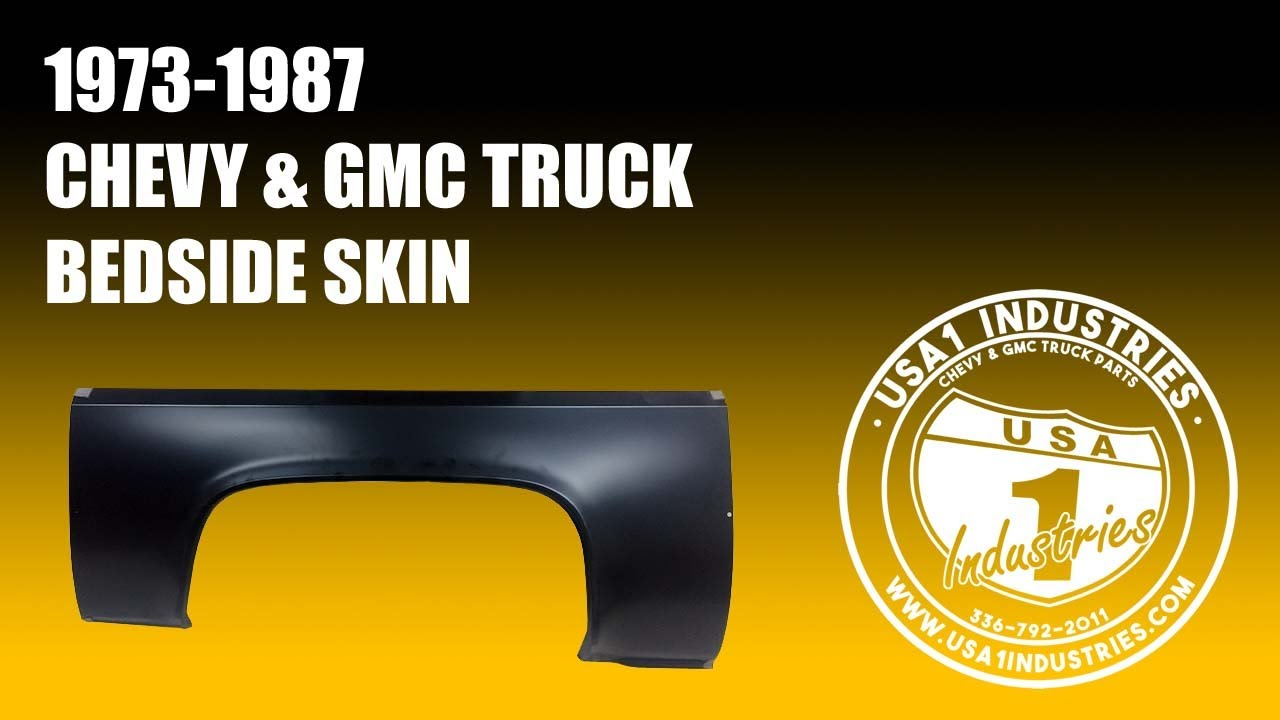 1973 87 chevy gmc truck bed side skin  [ 1280 x 720 Pixel ]
