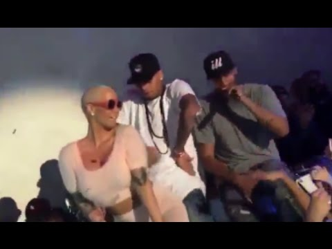 Amber Rose Twerking On Chris Brown At Supper Club LA video