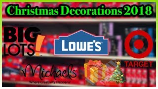 Christmas Decorations 2018: BIG LOTS | Michaels | Target | Home Depot & Lowe's