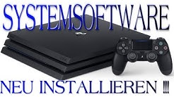Playstation 4 Systemsoftware Neu installieren