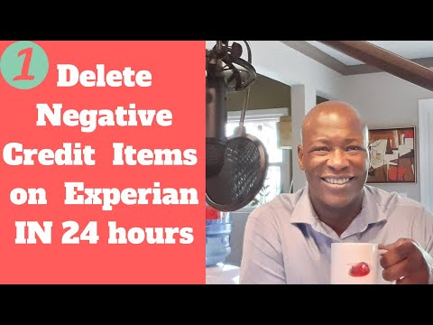 Delete Negative Credit  Items On  Experian IN 24 Hours