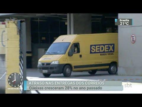 Número de reclamações por atrasos dos Correios cresceu 30% em 2017 | SBT Brasil (24/02/18)