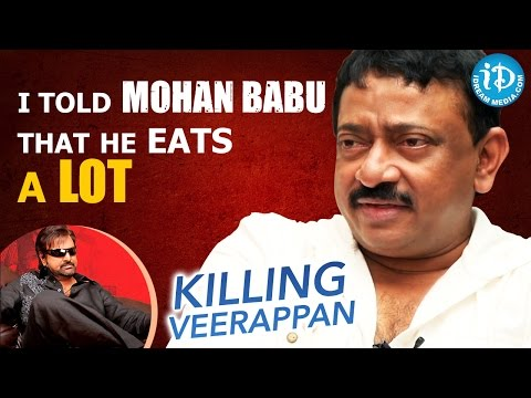 I Told Mohan Babu That He Eats A Lot - RGV || Talking Movies with iDream
