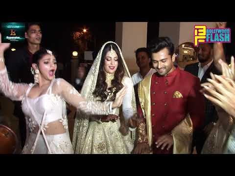 Dipika Kakar & Shoaib Ibrahim GRAND ENTRY At Wedding Reception In Mumbai
