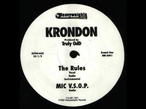 Krondon - The Rules / Thin Minutes