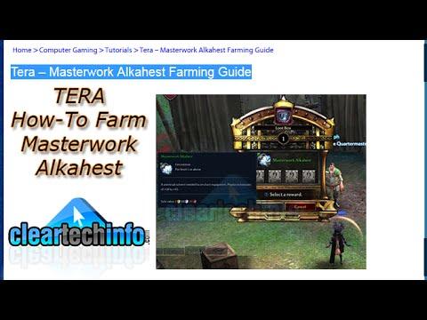 Masterwork Alkahest Farming in Tera Online